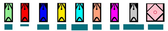 Schiffsradar Symbole der Schiffe