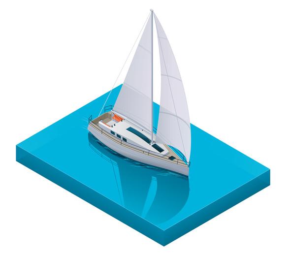 Segelschiff in 3D