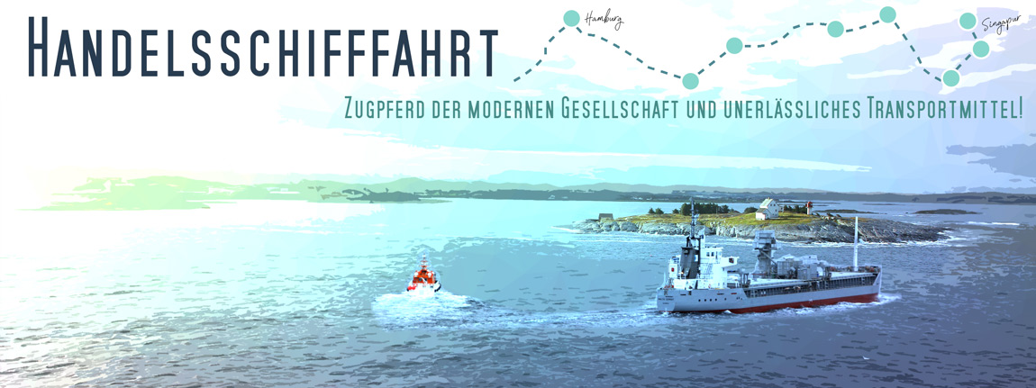 Frachtschiff - Bulkcarrier mit Lotsenboot fährt an einer Insel mit Leuchtturm vorbei